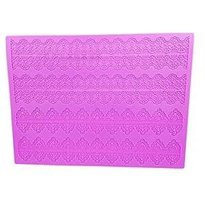 Garwarm Cake Decorating Tools Fondant Lace Silicone Mat Cake Decorations Molds 15×11.5 Inches