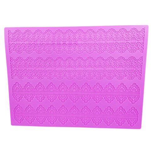 UPC 796474320279, Garwarm Cake Decorating Tools Fondant Lace Silicone Mat Cake Decorations Molds 15×11.5 Inches