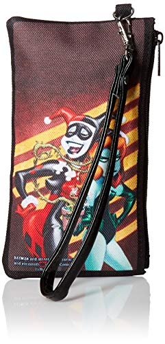 Buckle-Down Junior's Zip Wallet Harley Quinn Poison Ivy Small, Multicolor, 6.5