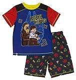 LEGO Star Wars Boys' Big Rebel Hero 2-Piece Pajama Short Set, Black Orange, 6/7