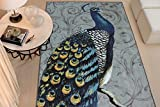 Mohawk Home New Wave Peacock Feathers Printed Area Rug, 7'6x10', Grey