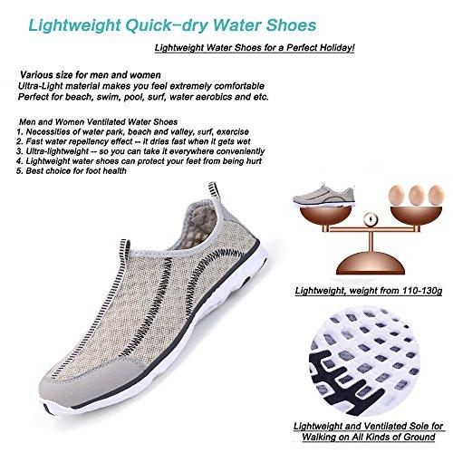 Santiro Unisex Lightweight Mesh Water Shoes Gray RWvdvH2