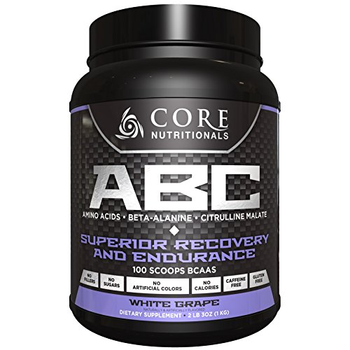 Core Nutritionals ABC Pre-Workout Supplement, White Grape, 2