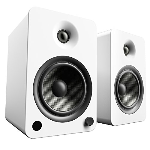 "Kanto 5-1/4"" Powered Wireless 2-Way Bookshelf Speakers (Pair) Matte white YU6MW"