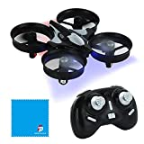 Mini Drone JJRC H36 con One Key Return; Diseño Resistente, Fácil de Volar, Ideal para Niños (Gris)