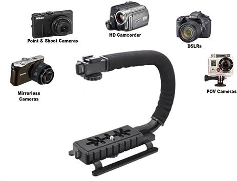 Pro Video Stabilizing Handle Grip for Canon PowerShot A20 Vertical Shoe Mount Stabilizer Handle