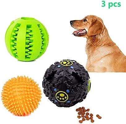 Juego de pelota de juguete para perro, pelota antirreflejo con ...