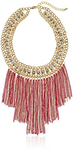 Stone Collar Fringe Statement Necklace