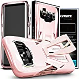 CASE FORCE Galaxy S8 Case Best Ultimate for Girls Women Men, Kickstand Heavy Duty Military Grade Drop Protection,Clear TPU Unique Custom Design Cover (Pink)