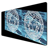 Large Rectangle Mouse Pad Smooth Mouse Mat for Gaming Home Office Versace Logo Sturdy 31inch 12inch