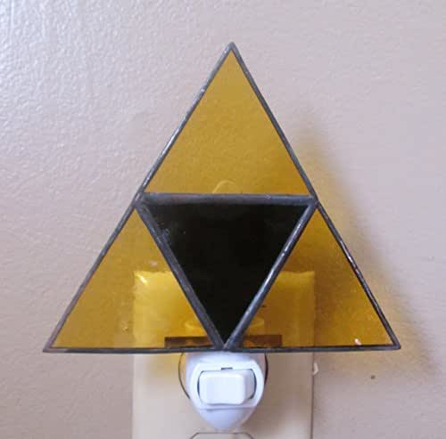 Stained Glass Triforce Night Light