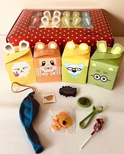 MP 12x Pack Happy Birthday Goody Bags; Pre Made & Filled with Toys, Filled Goody Bag / Loot ()
