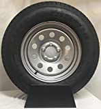 New 15 Inch 5 on 4.5 Silver Mod Mounted with 205 75D15 Bias Tire