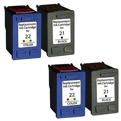 Prestige Cartridge 4 Compatible 21XL 22XL Cartuchos de tinta para HP Deskjet F2120 F2180 F2280 F335 F375 F380 F390 F4180 F4190 3940 D1460 D2360 D2460 ...
