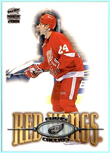 2000-01 Pacific NHL Hockey Card Paramount #83 Chris Chelios DETROIT RED ()