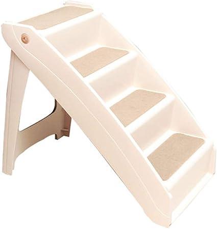 XUEYAN Escalera Plegable for Mascotas ABS Protección Conjunta Paso 4 Escaleras Escaleras del Gato del Perro de rampa móvil del Animal doméstico Lavable Ligera del Viaje portátil (Size : 71X46X64cm): Amazon.es: Hogar
