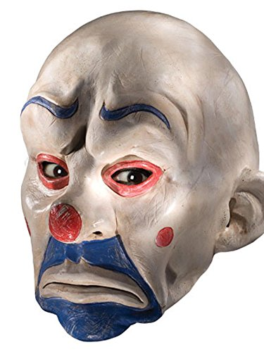 Rubie's Costume Batman The Dark Knight Adult Joker Latex Clown Mask, White, One Size]()