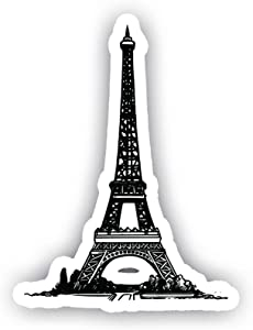 "Eiffel Tower Car Decal Vinyl Sticker - Vinyl Decal - Car, Bumper, Laptop, Decor, Window Vinyl Decal Sticker - (4"" Vinyl Decal)"