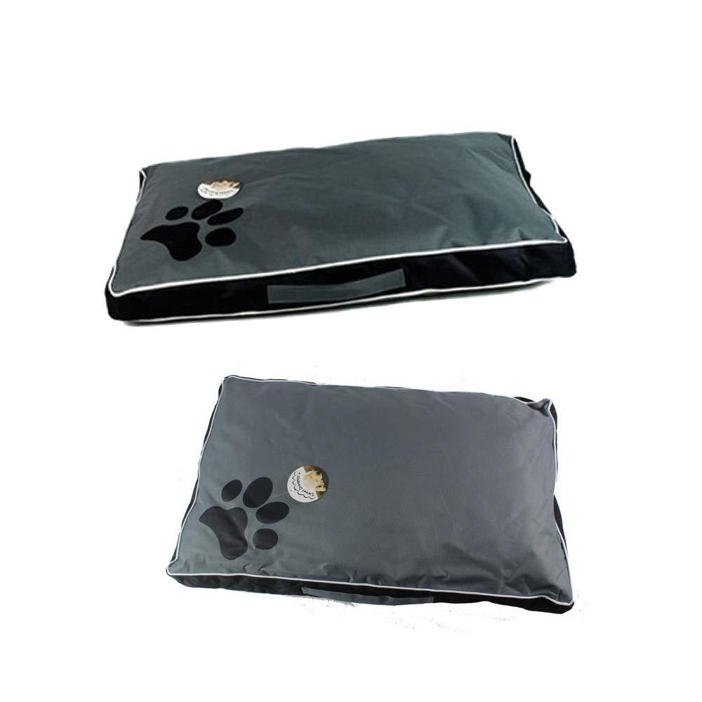 Black XL Black XL Enjelwang Dog Bed Mat Washable Case Soft Fleece Crate Pad Anti-Slip Matress Small Medium Large Pets
