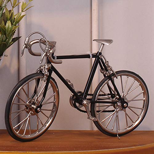 NAZIL Retro Manual Iron Art Bicycle Model, Creative Old Fashioned Bike Racing Car Crafts Collection Study Creative Decoration Cafe Bar Decoration Toy, Birthday Present by NAZIL