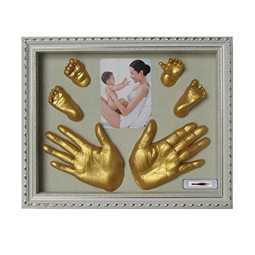 LiPing 3D Plaster Handprint Footprint Baby Mould Hand&Foot Casting Prints Kit Cast Gift and Footprint Makers Keepsake Box Decorations for Room Wall Nursery Decor -