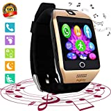 Smart Watch Touch Screen All-in-1 Smartwatch WristWatch Unlocked Watch Phone with Camera Handsfree Call for Samsung S8 Plus S7 Edge S6 S5 J7 LG Huawei Motorola Android Phones Men Women Boys
