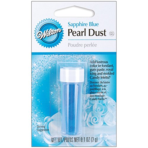 Wilton Pearl Dust, Sapphire Blue-0.05 Ounce (1,4g) ()