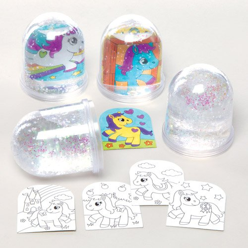 low-cost Kit de bolas de nieve con ponis para colorear que los niños ...