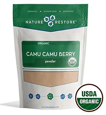 Nature Restore USDA Certified Organic Camu Camu Berry Powder (4 Ounces), Most Affordable Camu on Amazon! Non-GMO, Gluten Free