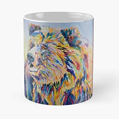 Watercolor Deborah Fox Grand Teton Gallery Contemporary Art - Coffee Mugs Unique Ceramic Novelty Cup Best Gift ()