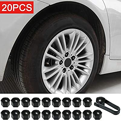 KKmoon 20pcs Wheel Nut Cap for Tesla Model 3, Wheel Nut Covers +Lug Nut Cover Puller Kit: Automotive