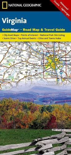 Virginia National Geographic Guide Map National Geographic Maps