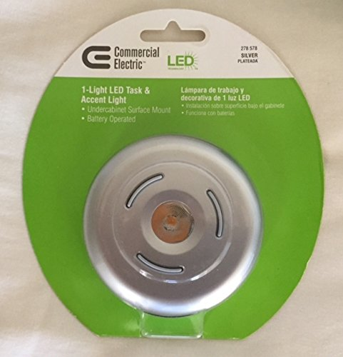 Commercial Electric 3-Button Silver LED Round Dragon Puck Light