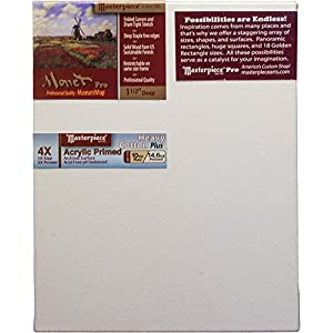 """Masterpiece Artist Canvas 43518 Monet PRO 1-1/2"""" Deep, 8"""" x 10"""", Cotton 14.6oz - 4X - Tahoe Heavy Weight"""