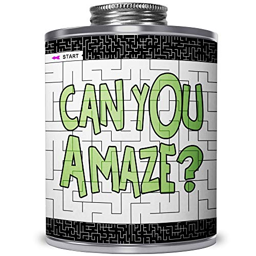 CAN You Amaze? The Popular Maze Puzzle Challenge CAN. Gift for All Ages. for Fun or Stress Relief. A Game and an Eye-Catching Way to Show Off Your Talent on a Unique Art Deco Can. (Simple Level)