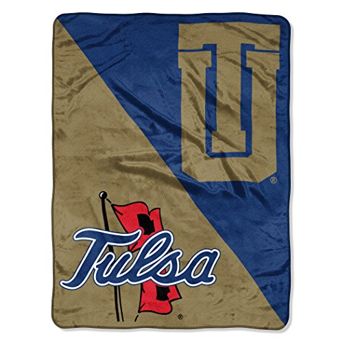 The Northwest Company Officially Licensed NCAA Tulsa Golden Hurricane Halftone Micro Raschel Throw Blanket, 46