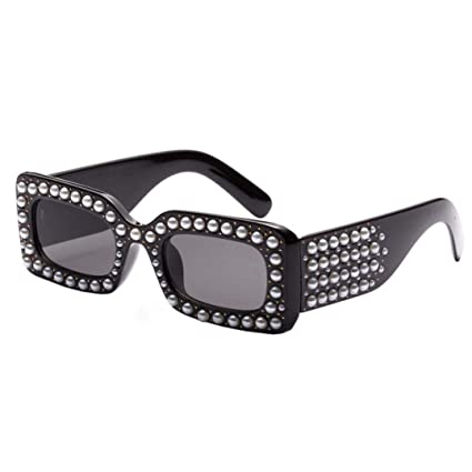 78e454941c113 Amazon.com  Forthry Sunglasses Women Oversized Square Crystal Diamond  Square Brand Designer Shades (A)  Sports   Outdoors