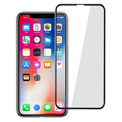 HD Iphone x Screen Protector, Shilling Full Screen Tempered Glass Screen Protector Film, Edge to Edge Protection Screen Cover Saver Guard for 3D 9H Hardness Iphone x(10) Black