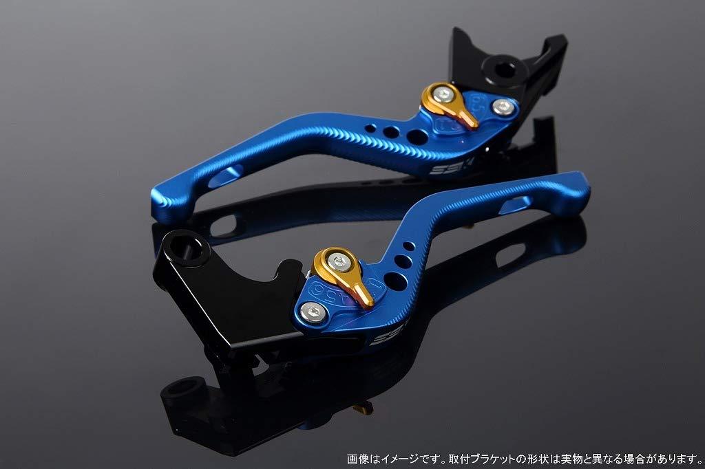 SSK アジャストレバー 3Dショート レバー本体カラー:マットブルー アジャスターカラー:マットゴールド LVFM005BE-GD B07MXB9HBK
