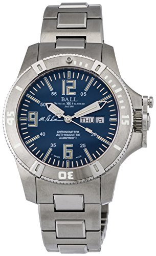 - Ball Engineer Spacemaster Captain Poindexter Blue Face Day Date Automatic Mens Swiss Stainless Steel Bracelet Limited Edition Watch DM2036A-S5CA-BE