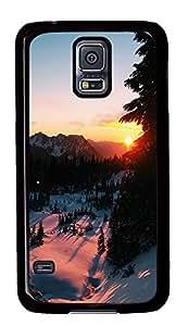 Samsung Galaxy S5 landscapes nature snow 4 PC Custom Samsung Galaxy S5 Case Cover Black