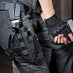 OneTigris Etui/Holster à Pistolet Molle Tactique Militaire avec Porte Chargeur pour 1911 45 92 96 Glock 10