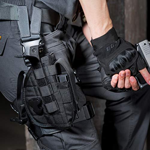 OneTigris Etui/Holster à Pistolet Molle Tactique Militaire avec Porte Chargeur pour 1911 45 92 96 Glock 5