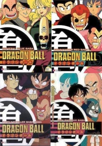 Dragon Ball Dragonball Saga 4 5 6 7 DVD Collection 4 Pack (General Blue Saga, Commander Red Saga, Fortune Teller Baba Saga, Tien Shinhan Saga)]()