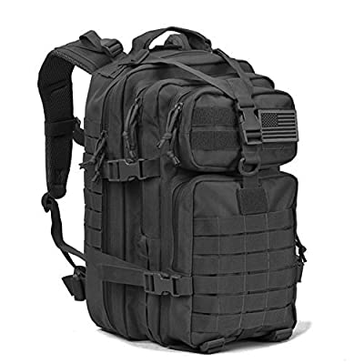 REEBOW GEAR Military Tactical Backpack w/Gun Holster Small 3 Day Assault Pack Army Bug Out Bag Backpacks Rucksacks Range Bags for Outdoor Hiking Camping Trekking Hunting