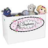 Personalized Paris Childrens Nursery White Open Toy Box