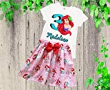 Girl Ariel birthday outfit Girl Ariel skirt shirt outfit Girl Little Mermaid outfit