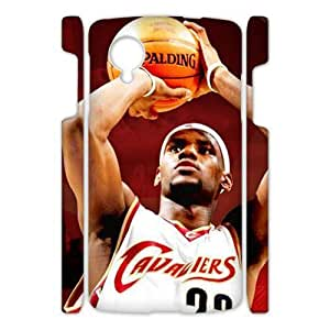 Hoomin Lebron James Last Shot Google Nexus 5 3D Cell Phone Cases Cover Popular Gifts