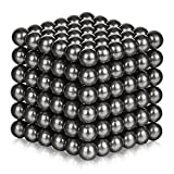 ATESSON Magnetic Sculpture Balls Intellectual Office Toys Anxiety Stress Relief Killing Time Puzzle Creative Educational Toys for Kids Adults (Titanium,5mm)