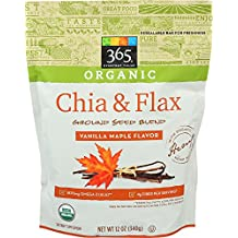 365 Everyday Value Organic Chia & Flax Ground Seed Blend, Vanilla Maple Flavor, 12 oz
